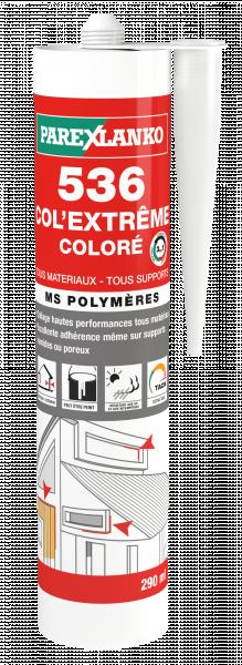 Photo 1 Mastic polymère monocomposant haut module formulé à base de MS polymères spécialement conçu pour le collage et le calfeutrage dans le bâtiment et l'industrie. - ParexGroup