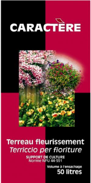 Photo 1 Utilisable avec tous les types de contenants, le meilleur support pour le fleurissement, favorisant l'ancrage et le développement racinaire des diverses plantes. Bonne rétention en eau. Avec caractère, vous bénéficiez d'un savoir-faire de professionnels. C'est une garantie de réussite pour vos clients. - Caractère