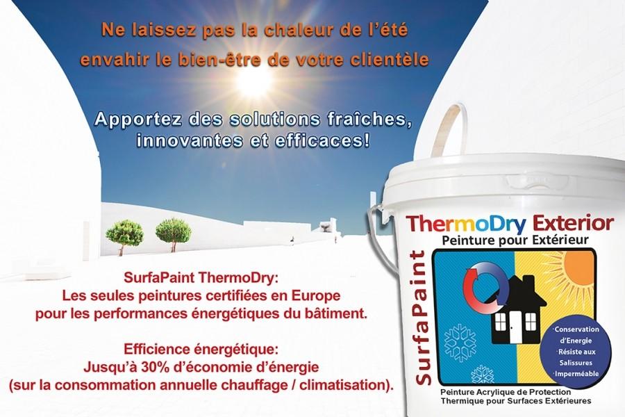 Photo 1 Peinture acrylique thermo-isolante de haute performances et qualité professionnelle pour façade. - NanoSources