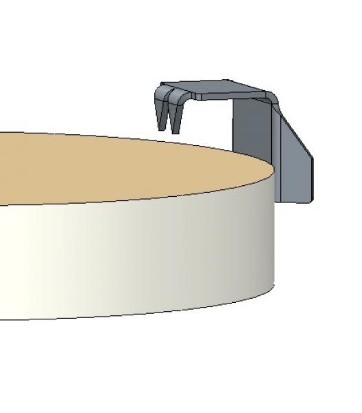 Photo 3 Cale de réparation pour plaque de plâtre en acier galvanisé d'épaisseur 0,75 mm. Jeu de cales pour reboucher les découpes de toutes épaisseurs et de toutes natures de plaques de plâtre posées en plafond ou en mur. - PAI