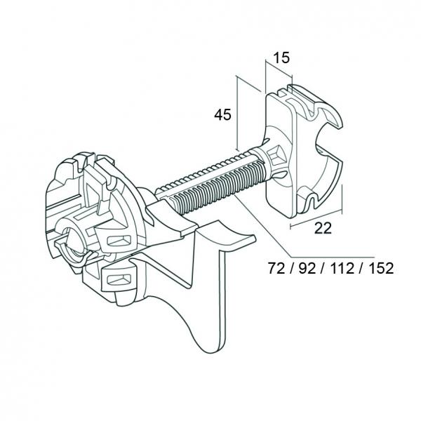 Photo 2 Appui intermédiaire thermo-acoustique sur tous types de fourrure pour mur en contre cloison. Appui intermédiaire sur supports neufs ou en rénovation en contre-cloison sur fourrures 17-47 et 18-45. - PAI