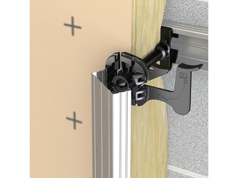 Photo 3 Appui intermédiaire thermo-acoustique sur tous types de fourrure pour mur en contre cloison. Appui intermédiaire sur supports neufs ou en rénovation en contre-cloison sur fourrures 17-47 et 18-45. - PAI
