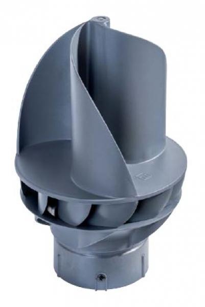 Photo 1 L'extracteur éolien est révolutionnaire en son genre. Un fonctionnement optimal a été obtenu grâce à une conception aérodynamique intelligente et à une apparence très distinctive. Le matériaux plastique de très haute qualité rend cette conception possible, tandis que le coeur du ventilateur est composé de pièces en acier inoxydable et d'un jeu de roulements très fluide. L'extracteur éolien Silairo est breveté en raison de ses propriétés techniques uniques. - FIRSTPLAST