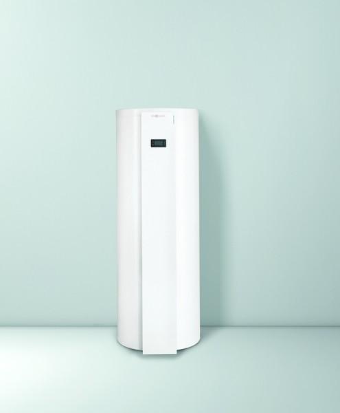 Photo 1 Conçu et produit dans son usine de Faulquemont en Moselle, c'est le premier ballon thermodynamique de conception 100% française.  Le ballon thermodynamique est une solution avantageuse, pour la préparation de l'eau chaude sanitaire. Il utilise une pompe à chaleur qui prélève les calories contenues dans l'air pour les transformer en chaleur vers l'eau chaude stockée dans le ballon sanitaire. Il assure 70% d'économies sur votre facture l'électricité par rapport à un chauffe-eau électrique. - Viessmann France
