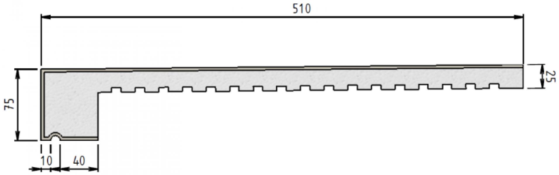 Photo 3 MODÉNATURES et APPUIS DE FENÊTRE.  Élément constitué d'un cœur en polystyrène expansé ignifugé et recouvert d'une résine acrylique ignifugée. Réaction au feu : Euroclasse E. - Baukom