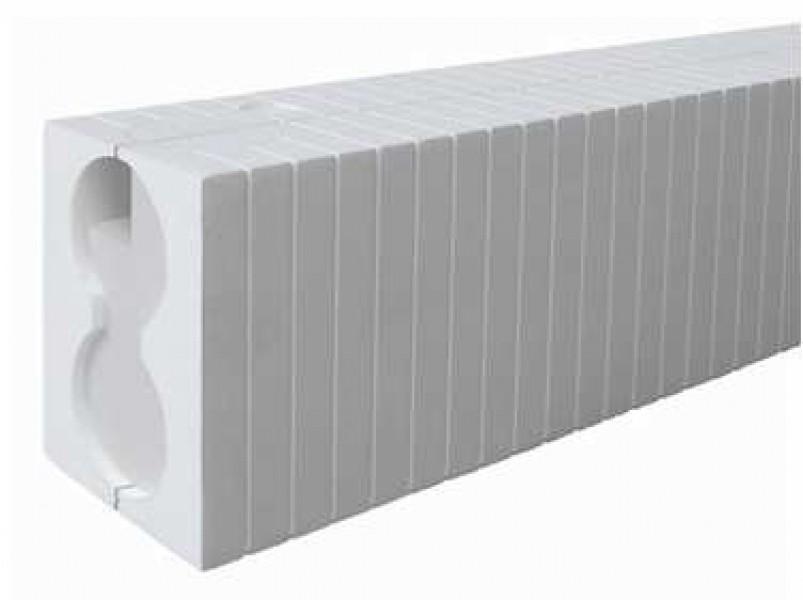 Photo 1 Le bloc ELEC est prévu en particulier comme support de montage sans pont thermique des interrupteurs électriques et des prises de courant dans les systèmes ITE. Domaine d'utilisation (EPS, laine minérale, fibre de bois, etc.) pour les boîtiers électriques standard d'un diamètre de 68 mm. - Baukom