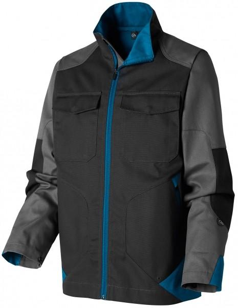 Photo 3 Démarquez vous et assurez sur tous les terrains avec la ligne B-Rok. Ce sont des vêtements au design sans concession, prévus pour résister à une utilisation intensive. Ce blouson hyper-fonctionnel est idéal pour les artisans intervenant à l'extérieur grâce à son tissu sélectionné pour sa résistance et sa durabilité et ses nombreuses poches.  Disponible en Carbone/gris/bleu pétrole et en Gris/carbone/bleu pétrole Composition : Bâchette, 65% polyester 35% coton - Molinel