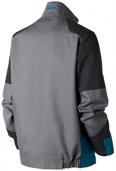 Photo 2 Démarquez vous et assurez sur tous les terrains avec la ligne B-Rok. Ce sont des vêtements au design sans concession, prévus pour résister à une utilisation intensive. Ce blouson hyper-fonctionnel est idéal pour les artisans intervenant à l'extérieur grâce à son tissu sélectionné pour sa résistance et sa durabilité et ses nombreuses poches.  Disponible en Carbone/gris/bleu pétrole et en Gris/carbone/bleu pétrole Composition : Bâchette, 65% polyester 35% coton - Molinel