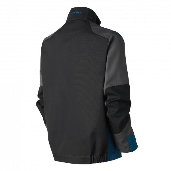 Photo 4 Démarquez vous et assurez sur tous les terrains avec la ligne B-Rok. Ce sont des vêtements au design sans concession, prévus pour résister à une utilisation intensive. Ce blouson hyper-fonctionnel est idéal pour les artisans intervenant à l'extérieur grâce à son tissu sélectionné pour sa résistance et sa durabilité et ses nombreuses poches.  Disponible en Carbone/gris/bleu pétrole et en Gris/carbone/bleu pétrole Composition : Bâchette, 65% polyester 35% coton - Molinel