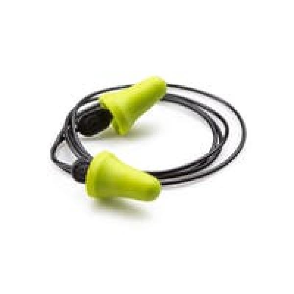 Photo 1 Les bouchons d'oreilles à usage unique Easy To Fit Corded sont faits à base de mousse de polyuréthane vert. La forme anatomique permet de s'adapter au conduit auditif. De plus, l'embout en ABS garantie une mise en place hygiénique et pratique. Le cordon permet de garder les bouchons autour du cou entre deux utilisations. Il est possible d'utiliser ces bouchons en double protection, sous un casque antibruit. Grâce à une atténuation sonore de 23 décibels, vous pourrez porter les bouchons Easy. - COVERGUARD