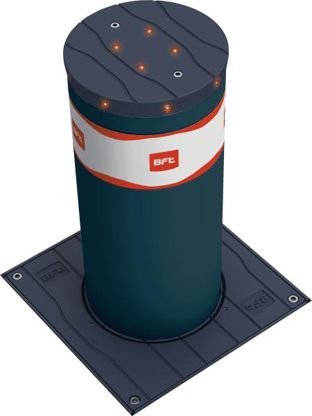 Photo 1 BORNE ANTITERRORISTE fixe avec fût de 220 mm de diamètre et de 700 mm de hauteur. Version en acier inox. - Bft France