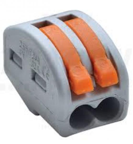 Photo 2 Connecteur rapide 2 fils pour câble souple. IP20, 400V 32A. Utilisation de -10°C à +55°C. Boite de 80. - INOVPROJECT