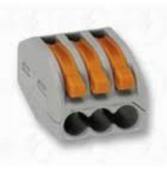 Photo 2 Connecteur rapide 3 fils pour câble souple. IP20, 400V 32A. Utilisation de -10°C à +55°C. Boite de 60. - INOVPROJECT
