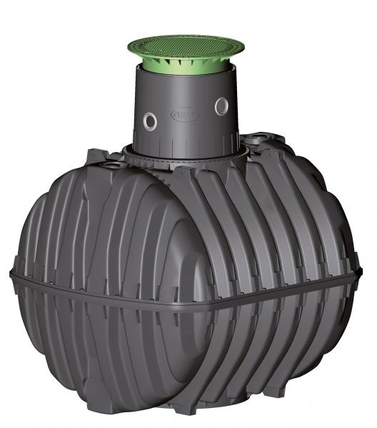Photo 1 Spécialement conçue pour la récupération des eaux pluviales. La cuve à enterrer Carat est disponible de 2700 à 6500 L.  Elle est étudiée dans le moindre détail pour une installation et une utilisation aisées. Le dôme pivotant à 360° facilite son raccordement. Elle peut être équipée d'un filtre intégré qui garantit une excellente qualité de l'eau récupérée. Les rehausses télescopiques permettent un ajustement au millimètre avec la surface du terrain. Garantie 30 ans. - GRAF