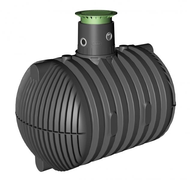 Photo 1 Spécialement conçues pour la récupération des eaux pluviales. Les cuves à enterrer Carat sont disponibles de 8 500 à 122 000 L. La cuve Carat est étudiée dans le moindre détail pour une installation et une utilisation aisées. Le dôme pivotant à 360° facilite son raccordement. Elle peut être équipée d'un filtre intégré qui garantit une excellente qualité de l'eau récupérée. Les rehausses télescopiques permettent un ajustement au millimètre avec la surface du terrain. Garantie 30 ans. - GRAF