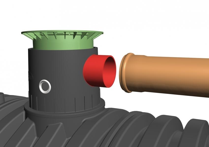 Photo 3 Spécialement conçues pour la récupération des eaux pluviales. Les cuves à enterrer Carat sont disponibles de 8 500 à 122 000 L. La cuve Carat est étudiée dans le moindre détail pour une installation et une utilisation aisées. Le dôme pivotant à 360° facilite son raccordement. Elle peut être équipée d'un filtre intégré qui garantit une excellente qualité de l'eau récupérée. Les rehausses télescopiques permettent un ajustement au millimètre avec la surface du terrain. Garantie 30 ans. - GRAF