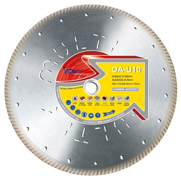 Photo 1 10 disques 230mm pour découpe de tuile - Diamtec