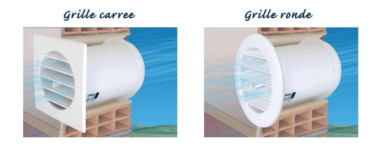 """Photo 2 Dispositif réglant automatiquement le passage d'air en fonction des variations de température externe Disponible en deux modèles """" Climat tempéré"""" soit variation de +5°C à +20°C et """"Climat Froid"""" soit variation de -5°C à +10°C. La grille existe en Ronde ou Carrée - FIRSTPLAST"""