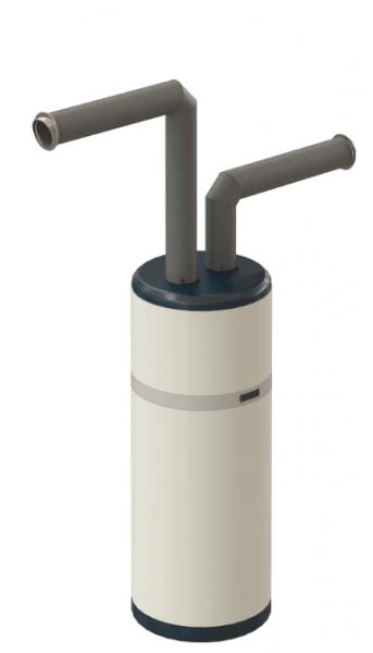 Photo 2 Le kit de raccordement ø160 contient tous les éléments nécessaires au raccordement horizontal de chauffe-eaux thermodynamiques.: 2 coudes AERFOAM 90°, 2 longueurs 1m AERFOAM, 2 clamps, 2 terminaux horizontaux, 2 manchons d'étanchéité universels 80/200 et une notice d'installation. - UBBINK FRANCE