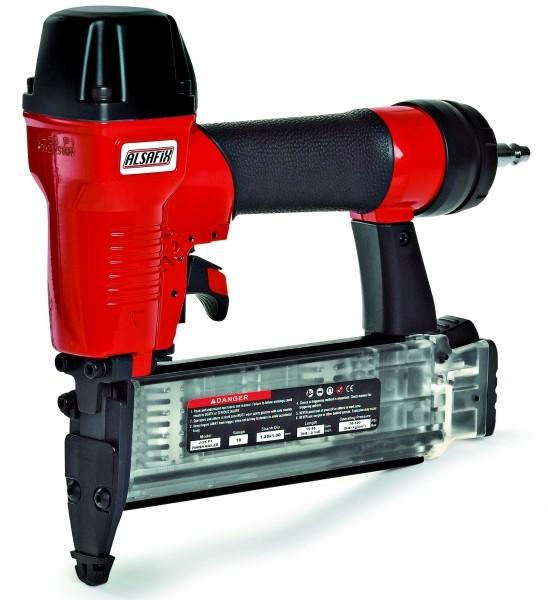Photo 2 Le kit comprend un cloueur pneumatique J-55 P1 et 42.000 pointes J de 15 à 50 mm. Le cloueur J-55 P1 est idéal pour les petit travaux de menuiserie, la fixation de lambris, plinthes ou moulures. Il peut également s'utiliser avec des pointes sans tête. Il dispose d'une sécurité sur le nez, et d'un système anti coup à vide. - ALSAFIX