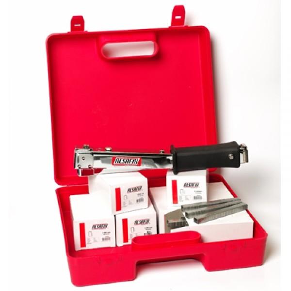 Photo 2 Kit composé d'un marteau agrafeur RPF9 et 35.000 agrafes PF-09 mm (7 boîtes), livré dans un coffret. idéal pour la fixation d'écran sous toiture. - ALSAFIX