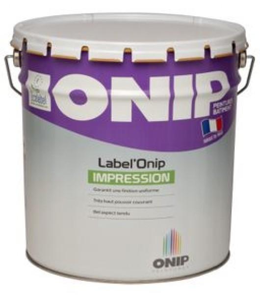 Photo 1 LABEL'ONIP IMPRESSION est la première impression tendue utilisée en intérieur bénéficiant de la certification Ecolabel Européen. Label'Onip Impression est une peinture nouvelle génération alliant l'aspect tendu et la dureté des glycéros à l'absence d'odeur des acryliques. Peinture certifiée Ecolabel Européen - ONIP