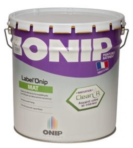 Photo 1 Label'Onip Mat Clean'R est une Peinture de finition pour la protection et la décoration des murs et plafonds bénéficiant de la technologie Clean'R qui capte et détruit le Formaldéhyde présent dans l'air intérieur. - ONIP
