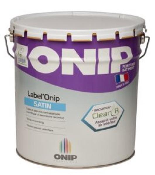 Photo 1 Label'Onip Satin Clean'R est une peinture de finition satinée pour la protection et la décoration des murs et plafonds bénéficiant de la technologie Clean'R qui capte et détruit le Formaldéhyde présent dans l'air intérieur.  Ce produit dispose d'une double action : destruction des molécules de formaldéhyde présentes dans l'air intérieur et inhibition du développement des bactéries sur le film de peinture. - ONIP