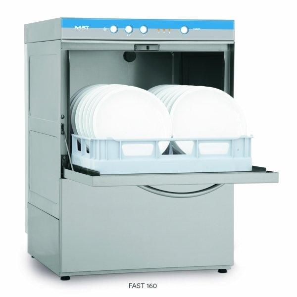 Photo 1 Lave-vaisselles facile de fonctionnement construction inox 18/10. Les résistances de lavage et de rinçage fonctionnant séparément elles sont renforcée elles garantissent une température de lavage et de rinçage parfaite lors de cycles successifs elles sont réglées par thermostat. Taille panier : 500 x 500. Fast 160 :Dimensions : 575x605x820 mm. Volume cuve: 20 l. - Eurofred