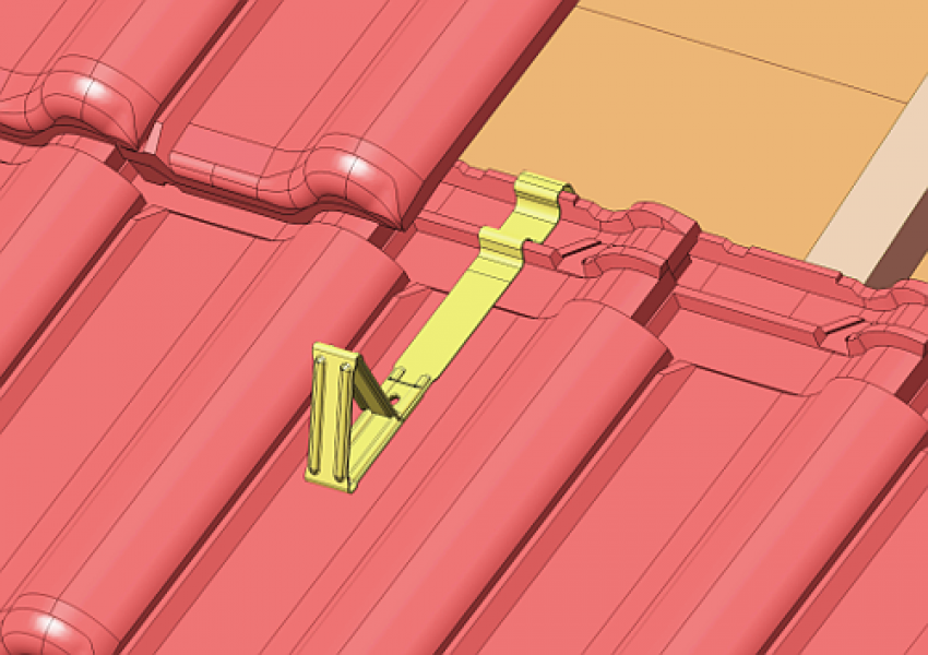 Photo 4 Protection contre les glissements de masse neigeuse. En acier galvanisé - stable aux intempéries. Disponible pour différents types de revêtements de toiture et dans plusieurs coloris. - MAGE FRANCE