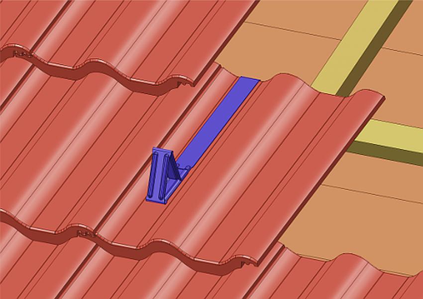 Photo 3 Protection contre les glissements de masse neigeuse. En acier galvanisé - stable aux intempéries. Disponible pour différents types de revêtements de toiture et dans plusieurs coloris. - MAGE FRANCE