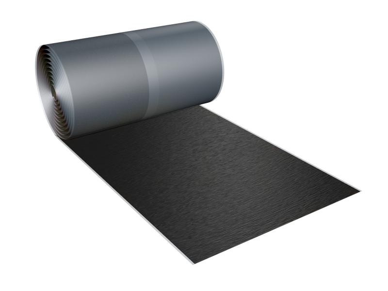 """Photo 1 """"LA SOLUTION ALTERNATIVE AU PLOMB"""" pour l'étanchéité et la finition des murs extérieurs, des cheminées, des noues, des solins. Matériau composite en aluminium crêpé. Disponible en 3 coloris. - MAGE FRANCE"""