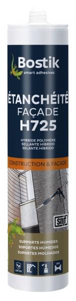 Photo 1 Mastic MS hybride haut de gamme permettant avec une seule cartouche de réaliser les joints à élasticité durable d'étanchéité, de calfeutrement, de dilatation et de sols sur la plupart des supports utilisés dans le bâtiment (béton, maçonneries, bois, brique, tuile, verre, métaux, céramique, époxy, polyester, PVC…). Labels SNJF Façade F25E. - Bostik