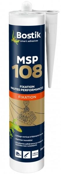 Photo 1 Mastic à base de MS polymères pour la fixation haute performance en vertical d'éléments lourds. Son tack initial est surpuissant. - Bostik