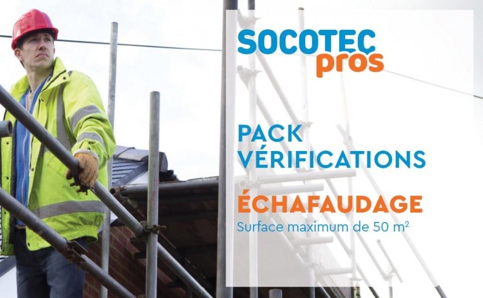Photo 1 Vous êtes artisan du bâtiment ? SOCOTEC a packagé l'offre de vérification avant mise ou remise en service d'un échafaudage afin que vous soyez conforme à l'article 4 de l'arrêté du 21 décembre 2004 relatif aux vérifications des échafaudages. - SOCOTEC