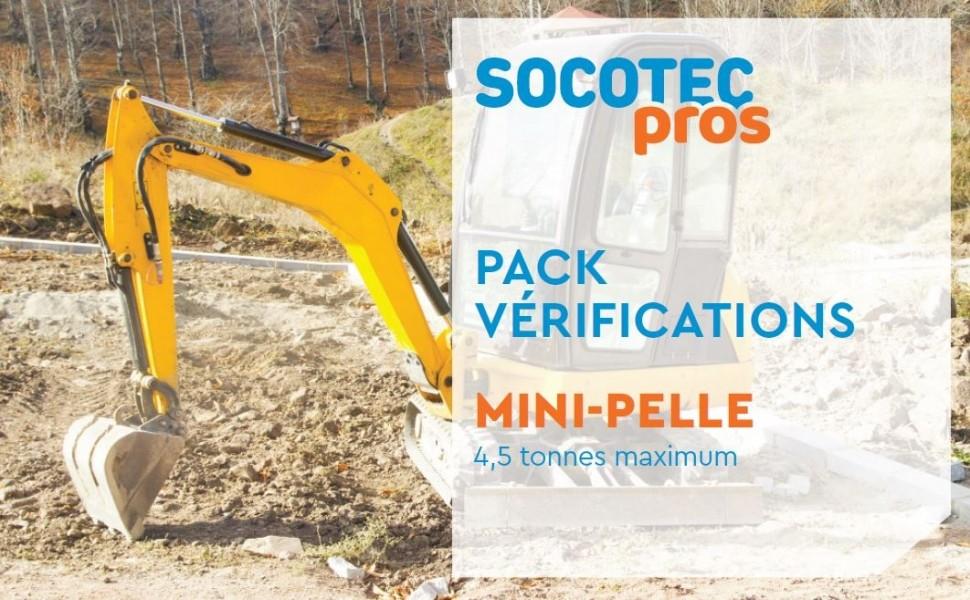 Photo 1 Vous êtes artisan du bâtiment ? La vérification de l'état d'entretien et de fonctionnement de votre mini-pelle de chantier doit être réalisée tous les ans. - SOCOTEC