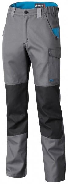 Photo 1 Démarquez vous et assurez sur tous les terrains avec la ligne B-Rok. Ce sont des vêtements au design sans concession, prévus pour résister à une utilisation intensive. Ce pantalon est idéal pour les artisans intervenant à l'extérieur grâce à son tissu sélectionné pour sa résistance et sa durabilité et ses zones renforcées assurant une solidité maximale. Disponible en Carbone/gris/bleu pétrole et en Gris/carbone/bleu pétrole - Molinel