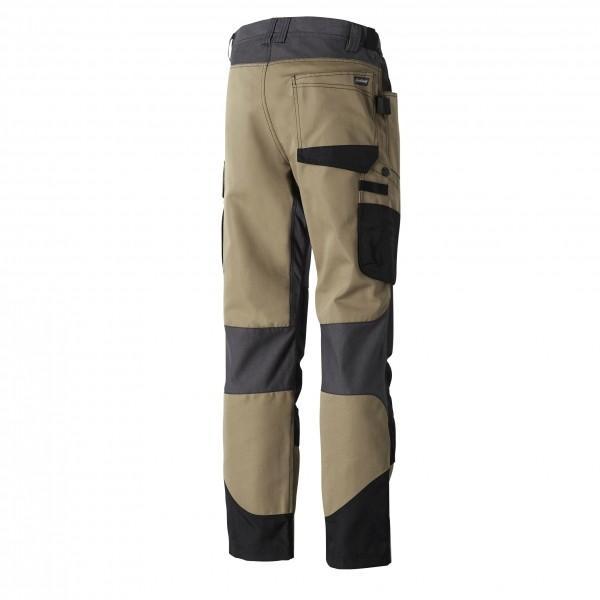 Photo 2 Un pantalon de travail pour les professionnels intervenant dans des environnements extérieurs difficiles. Ce pantalon genouillères est normé EN 14404 pour permettre au porteur de travailler en toute sécurité. Disponible en Noir, Gris/Noir et Camel. - Molinel