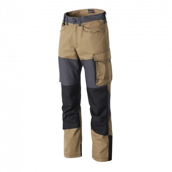 Photo 1 Un pantalon de travail pour les professionnels intervenant dans des environnements extérieurs difficiles. Ce pantalon genouillères est normé EN 14404 pour permettre au porteur de travailler en toute sécurité. Disponible en Noir, Gris/Noir et Camel. - Molinel