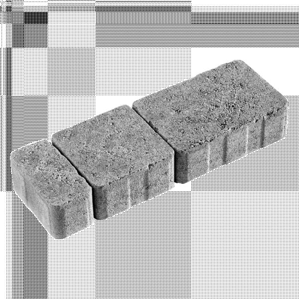 Photo 1 Pavé 3 formats (12x18 cm/12x12 cm/12x6 cm) en béton, épaisseur 6 cm est circulable (classe de trafic T5). Pavé à poser sur assise souple de sable et à jointer obligatoirement au sable ou polymère. Finition vieillie, martelé. - Carré d'Arc