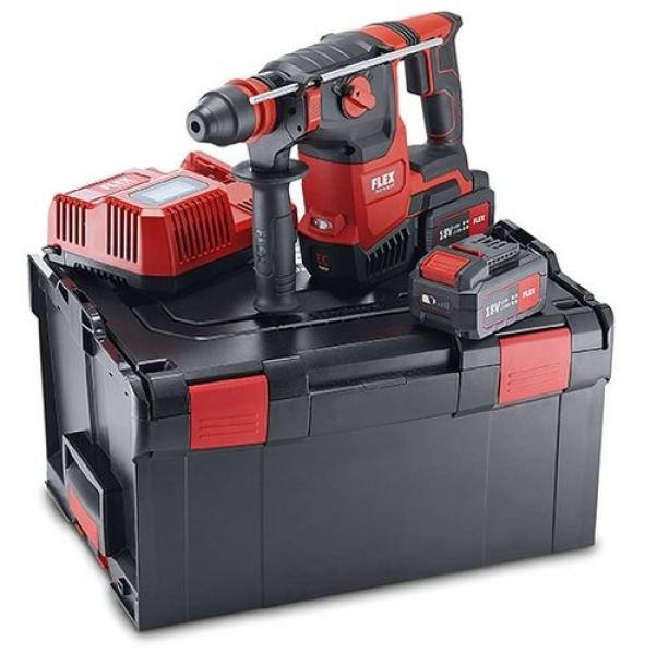 Photo 1 CHE 2-26 18.0-EC / 5.0 Set KIT POWER PERFORATEUR 18V EN L-BOXX® LIVRE AVEC 2 BATTERIES 5AH ET 1 CHARGEUR - FLEX FEMA SAS
