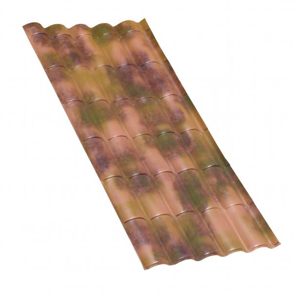 Photo 1 Les plaques COVER-LIFE résistent parfaitement aux variation de température de-30° à +70%C, au feu & aux choc Grace aux matières premières utilisées à la production la plaque a une conductibilité thermique très basse et offre une capacité d'isolation acoustique optimale Semi flexibles & garanties 15 ans (voir conditions) Longueur 2,08m, 2,14 m2, 9Kg Réf CLF020RT Rouge Tuile CLF020RTOP Brique Mat CLF020ANRT Brique Antique CXL020ANF Florence Antique CXL020ANV Venise Antique CXL020ANU Urbi - FIRSTPLAST