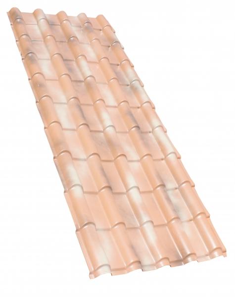 Photo 2 Les plaques COVER-LIFE résistent parfaitement aux variation de température de-30° à +70%C, au feu & aux choc Grace aux matières premières utilisées à la production la plaque a une conductibilité thermique très basse et offre une capacité d'isolation acoustique optimale Semi flexibles & garanties 15 ans (voir conditions) Longueur 1,92m ; 1,50 m2 ; 5,99 Kg  Références couleurs :  FR019TN Terre naturelle  FR019BA Bleu ardoise mat - FIRSTPLAST