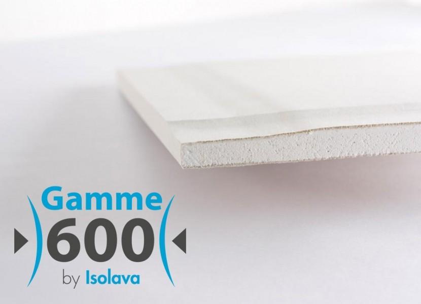 Photo 1 Plaque de plâtre standard à quatre bords amincis conçue pour faciliter la mise en œuvre et les finitions de vos plafonds. Utilisaion : Tous systèmes constructifs en plaques de plâtre. - ISOLAVA FRANCE