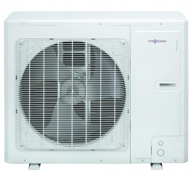 Photo 2 La pompe à chaleur Vitocal 111-S est une solution à prix attrayant offrant qualité de fabrication et efficacité de premier ordre qui font la réputation de Viessmann. Avec ses dimensions compactes, seulement 600 mm de large et 1900 mm de haut, l'unité intérieure peut être installée aussi bien dans la buanderie que dans le garage d'une maison individuelle.  Elle existe aussi bien en 230 V qu'en 400 V pour la production de chauffage et d'eau chaude sanitaire thermodynamique. - Viessmann France