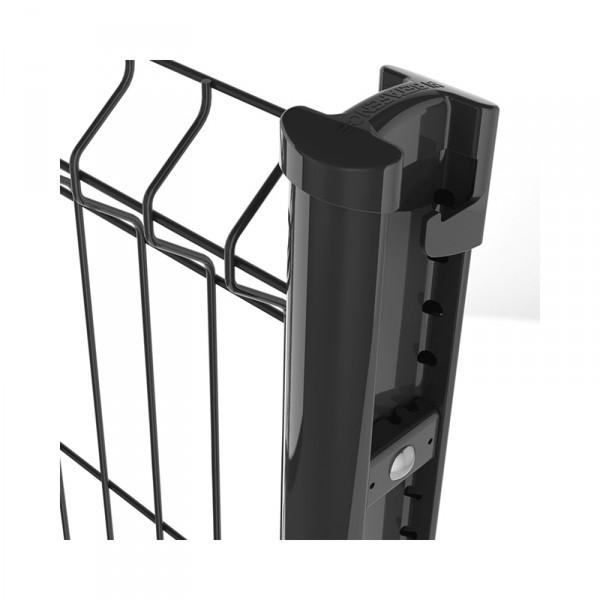 Photo 2 Bekafix est un poteau professionnel profilé, galvanisé et plastifié, compatible avec une très large gamme de panneaux de clôture. Il permet une pose à l'avancement facile. Ses atouts :- Profil design spécifique et breveté- Tous les angles sont permis- Adapté à tous types de terrains- Une large gamme d'accessoires de sécurité (bavolet, pièce de fixation inviolable)- Disponible en coloris standards Vert RAL 6005 - Gris RAL 7016 - Noir RAL 9005 - Blanc RAL 9010. - BETAFENCE FRANCE