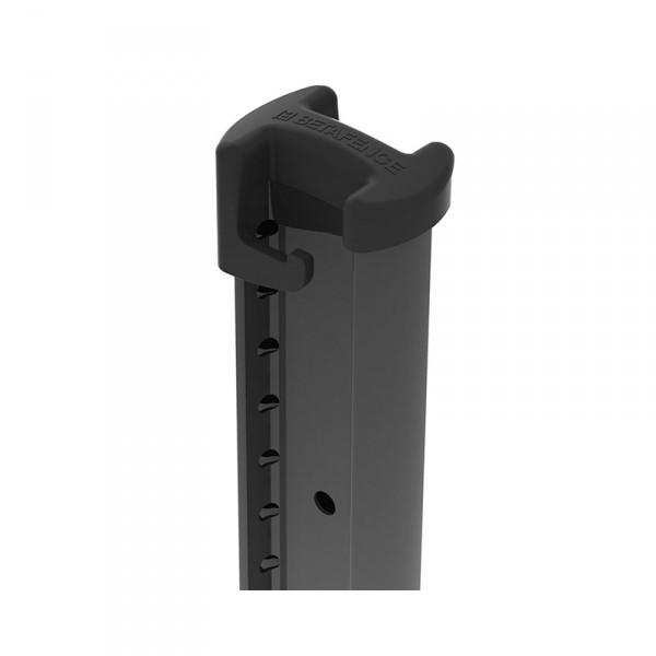 Photo 3 Bekafix est un poteau professionnel profilé, galvanisé et plastifié, compatible avec une très large gamme de panneaux de clôture. Il permet une pose à l'avancement facile. Ses atouts :- Profil design spécifique et breveté- Tous les angles sont permis- Adapté à tous types de terrains- Une large gamme d'accessoires de sécurité (bavolet, pièce de fixation inviolable)- Disponible en coloris standards Vert RAL 6005 - Gris RAL 7016 - Noir RAL 9005 - Blanc RAL 9010. - BETAFENCE FRANCE