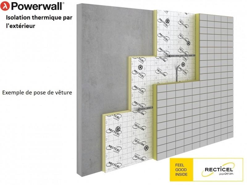 Photo 3 Les panneaux d'isolation Powerwall® de Recticel offrent un bouclier isolant durable. Destinés à l'isolation thermique par l'extérieur des murs, ils peuvent être combinés avec une vaste gamme de finitions de façades en bardage, vêtage et vêture. Installés rapidement, ils conviennent aux nouvelles constructions et aux rénovations tout en garantissant des performances thermiques exceptionnelles. - RECTICEL