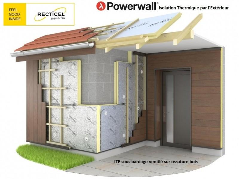 Photo 2 Les panneaux d'isolation Powerwall® de Recticel offrent un bouclier isolant durable. Destinés à l'isolation thermique par l'extérieur des murs, ils peuvent être combinés avec une vaste gamme de finitions de façades en bardage, vêtage et vêture. Installés rapidement, ils conviennent aux nouvelles constructions et aux rénovations tout en garantissant des performances thermiques exceptionnelles. - RECTICEL