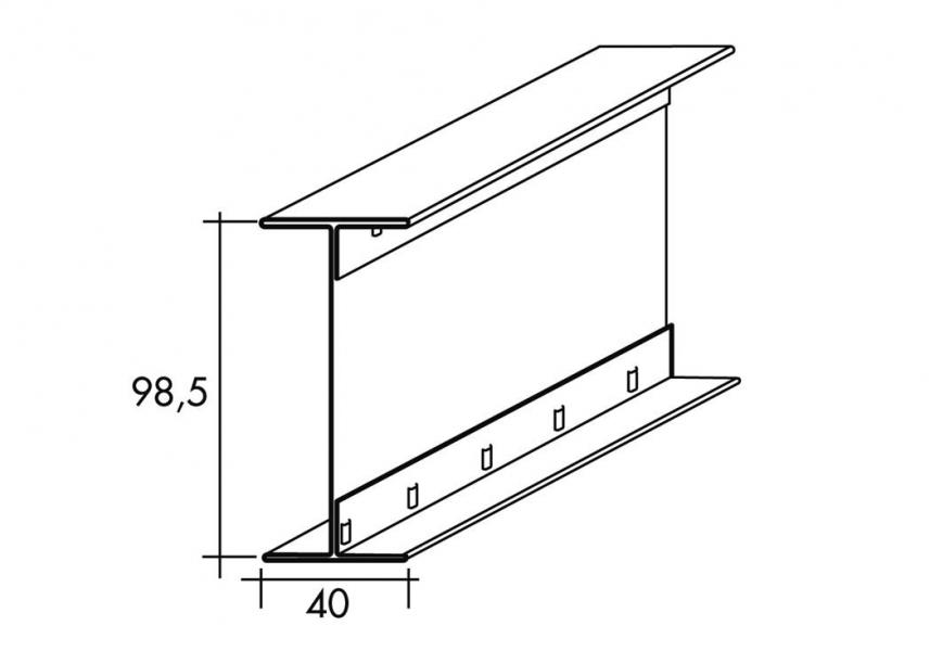 Photo 2 Profilé métallique pour la réalisation d'ossature primaire longue portée de 100 mm de hauteur. - SPP-PAI